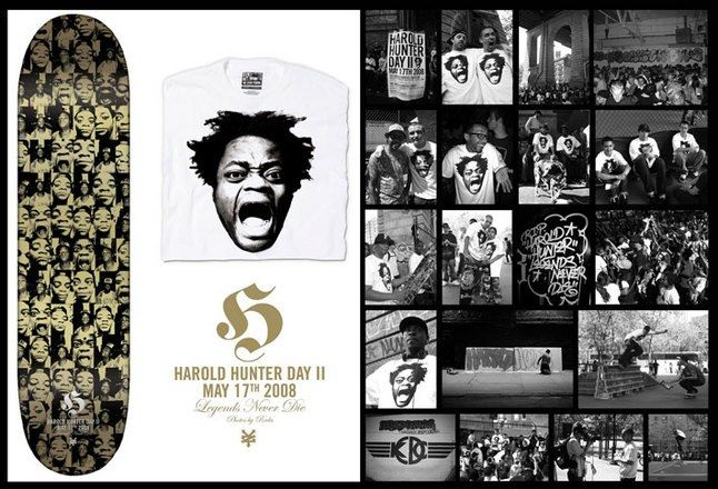 Harold Hunter Day Ii Commemorative Skateboard Deck And T Shirt 1