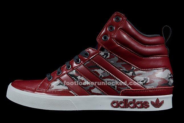 Adidas Top Court Camo Cardinal Profile 1