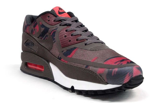 Nike Am90 Prm Tape Red Camo Toe Quarter 1
