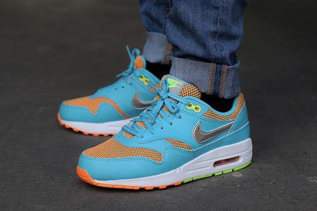 Nike Air Max 1 Le Gs Gamma Blue Total Orange 1