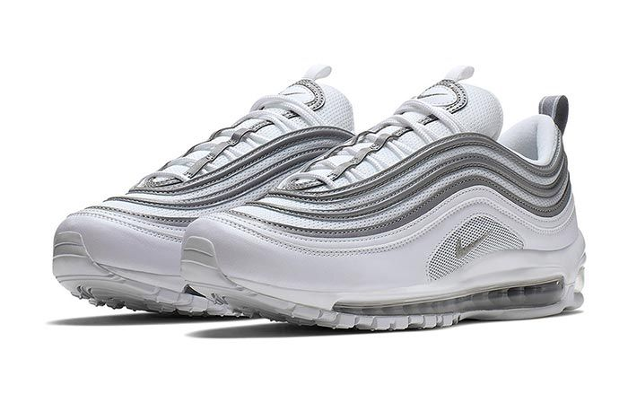 Nike Air Max 97 White Metallic Silver Pair