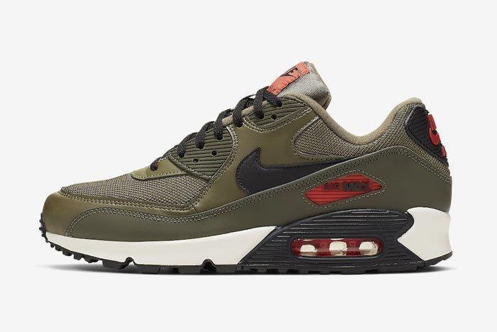 Nike Air Max 90 Essential Khaki Lateral