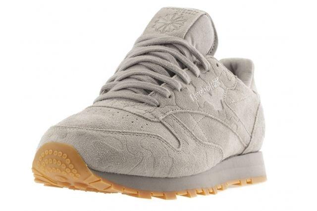 Reebok Classic Leather Embossed Camo Grey Angle