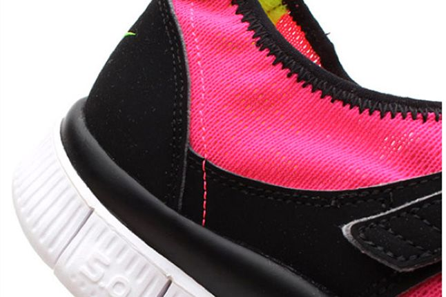 Nike Free Sock Racer Candy Pack Flash Pink Heel 1