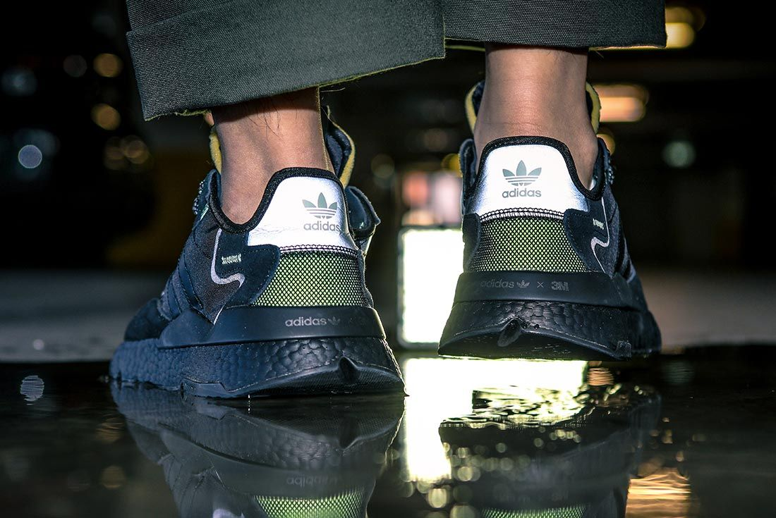 On Adidas Nite Jogger Heel Black