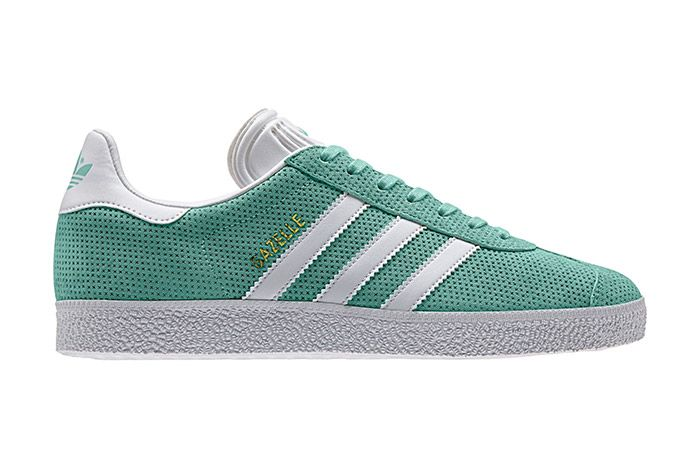 Adidas Gazelle Perforation Green 2