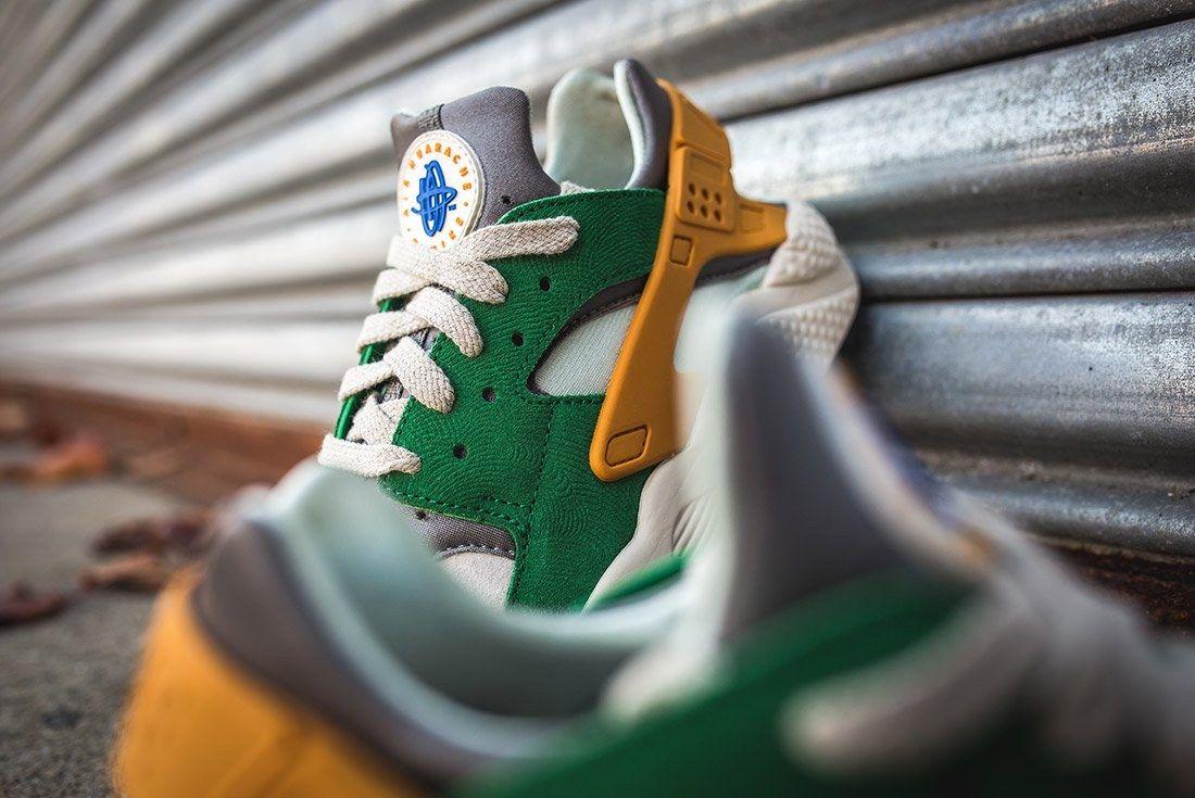 Nike Air Huarache Se Pine Green Gold Leaf6