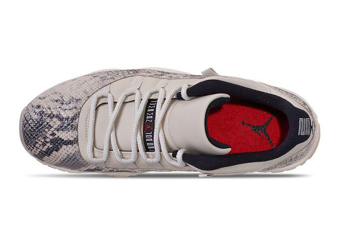 Air Jordan 11 Low Snakeskin Light Bone Top