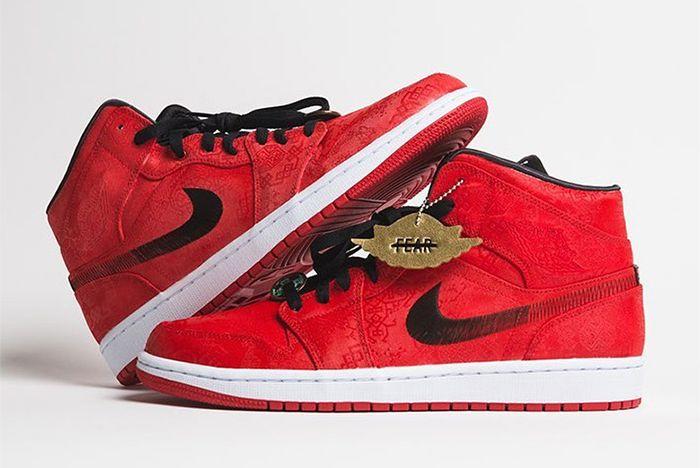 Clot Jordan 1 Mid Red