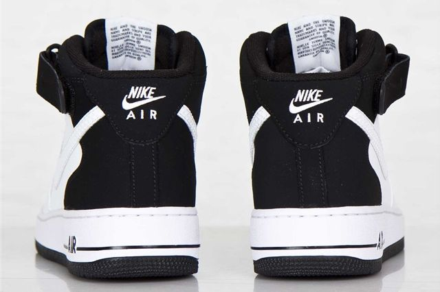 Nike Air Force Mid White Black White 6