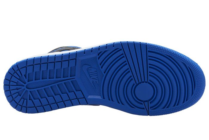 Air Jordan 1 Mid Royal Black Blue 554724 068 Release Date 2 Sole