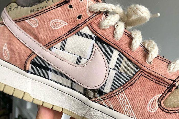 Travis Scott Nike Sb Dunk Low Custom Close
