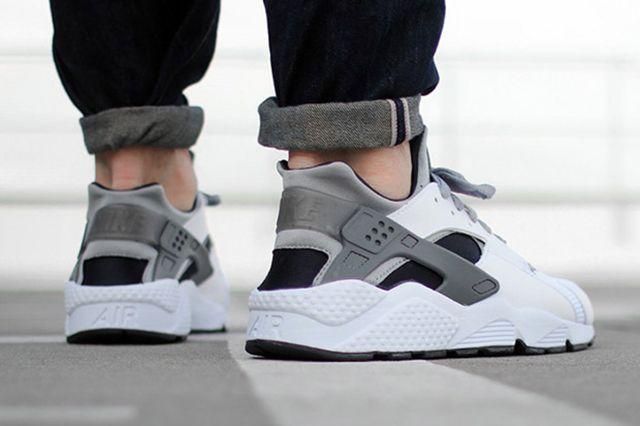 Nike Air Huarache White Black Grey