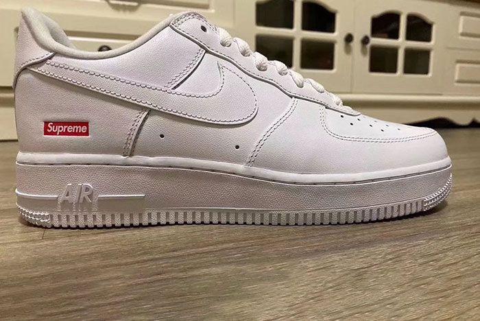 Supreme Nike Air Force 1 White Cu9225 100 Lateral