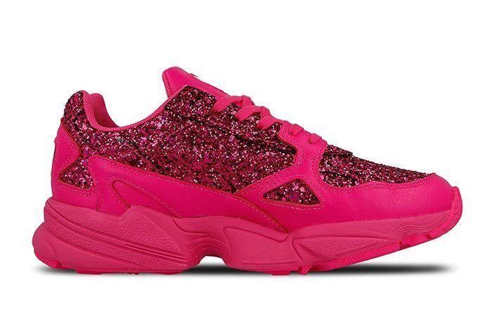 Adidas Falcon Shock Pink Sequins 2