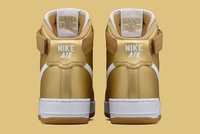 Gold Nike Air Force 1 5