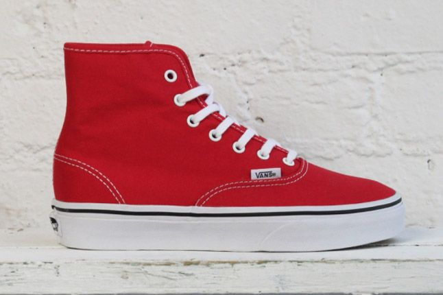 Vans Dqm Womens Winter Collection Authentic Hi Red 1