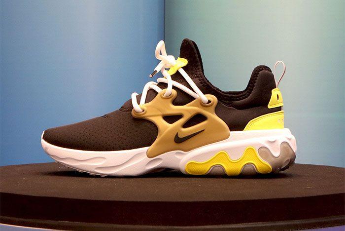 Nike React Presto Black Yellow Gold Brutal Honey Side Shot 12