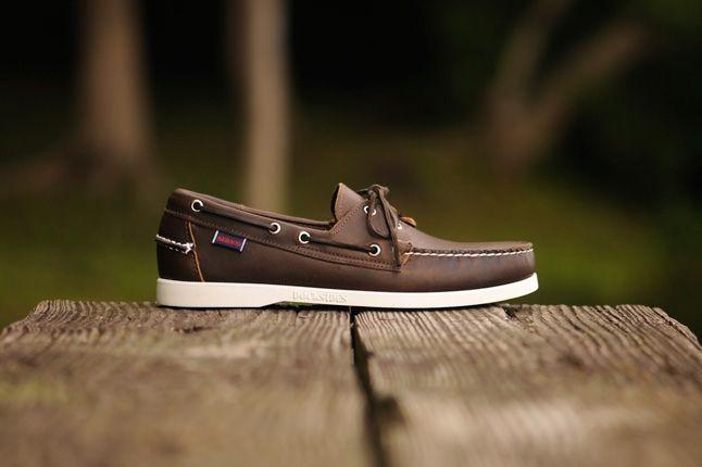Sebago Boat Brown Leather Profile 1