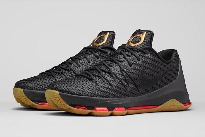 Nike Kd8 Ext Gold Black Woven Bump 1