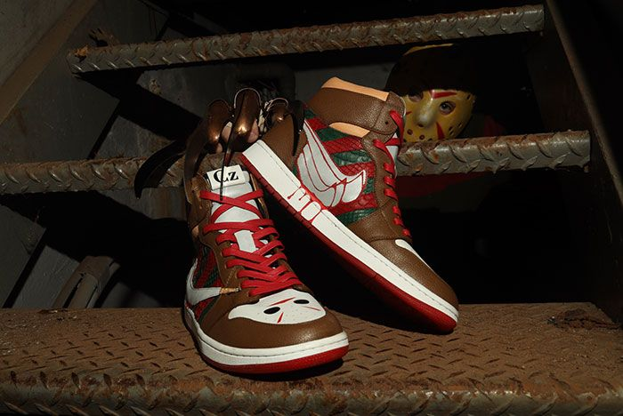 Ceeze Air Jordan 1 Freddy Vs Jason Custom Stairs