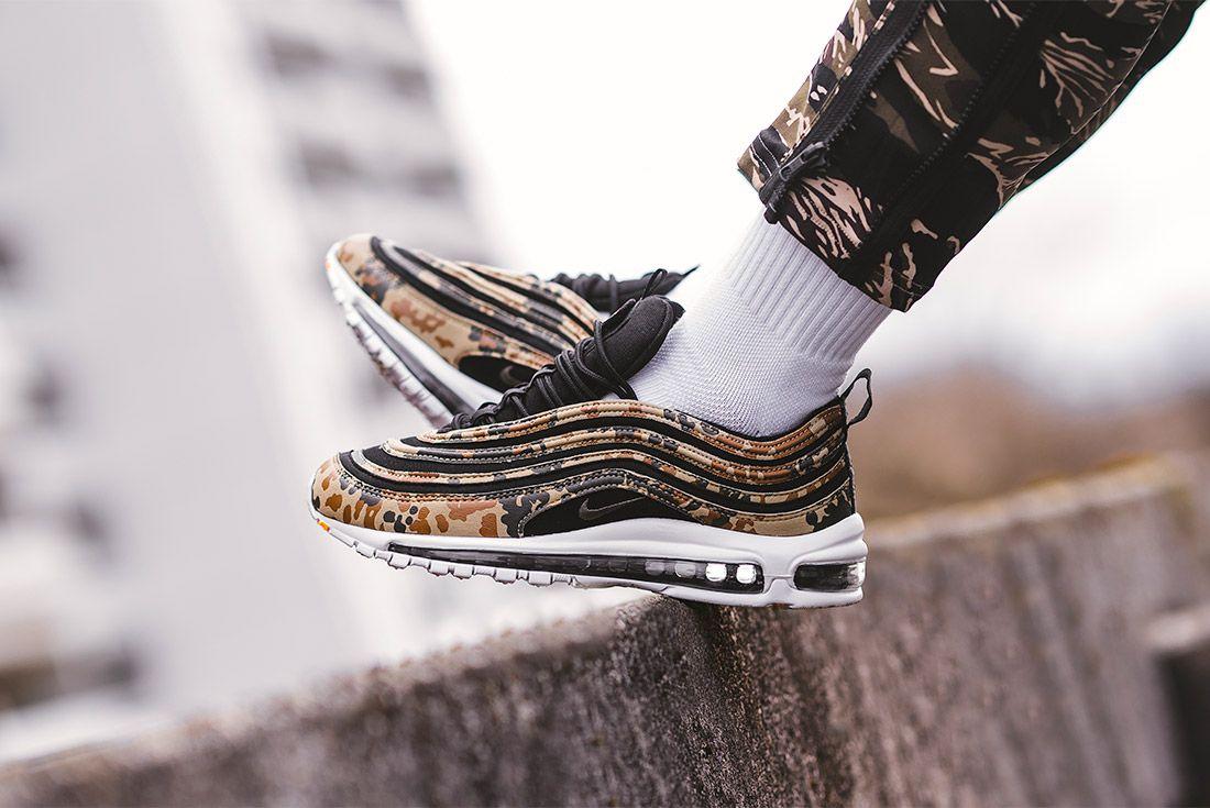 Country Camo Nike Air Max 97 Premium Qs Bamboo Black Dk Khaki Sequioa Aj2614 204 Sneaker Freaker 10
