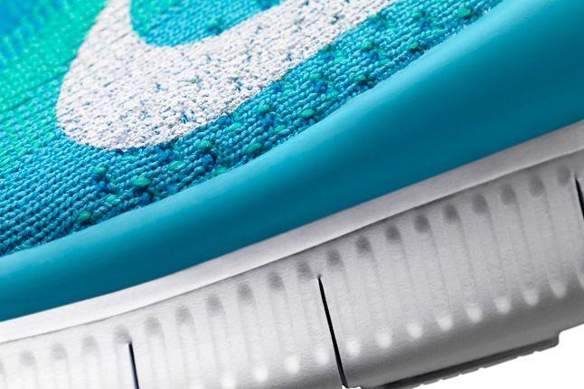 Nike Free Flyknit Blue Midfoot Sole Detail