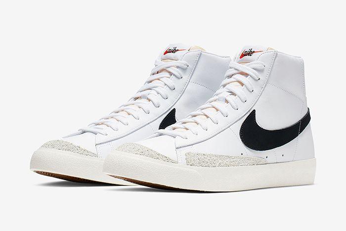 Nike Blazer Mid Vintage 77 White Black Bq6806 100 Release Date Pair