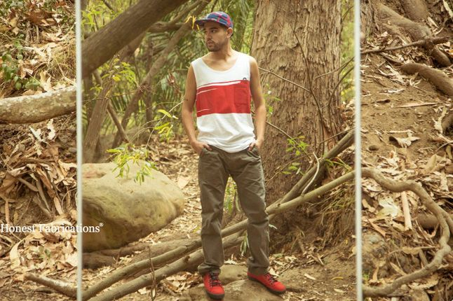 The Hundreds Spring 2013 Lookbook Ash Pant Aloe Track Current Tank 1