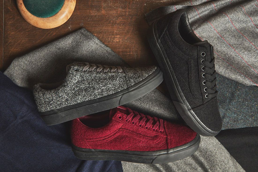 Size X Vans Old Skool Wool Pack
