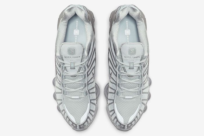 Nike Shox Tl Pure Platinum Chrome Av3595 003 Top