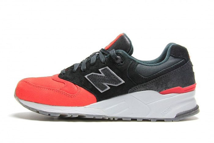 New Balance 999 Waxed Canvas Red Black 2