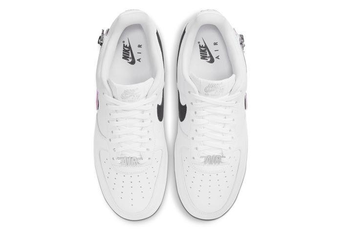 Nike Air Force 1 White Zippered Swoosh Top
