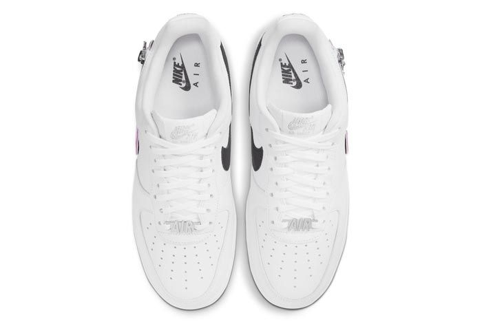 Nike Air Force 1 White Zippered Swoosh Top