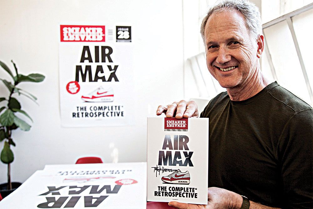 Tinker Hatfield visiting the Sneaker Freaker office