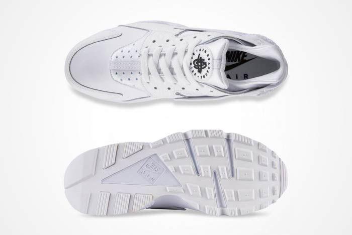 Nike Air Huarache Triple White 1