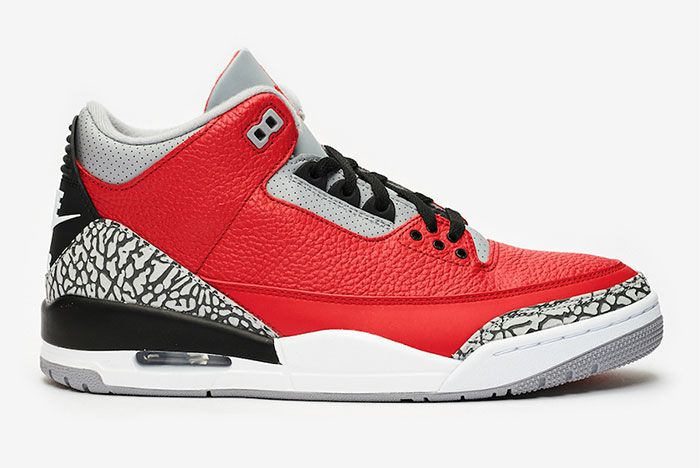 Air Jordan 3 Red Cement Right