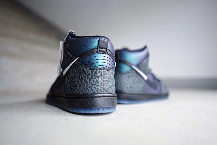 Black Sheep X Nike Sb Dunk High Black Hornet Close Ups4