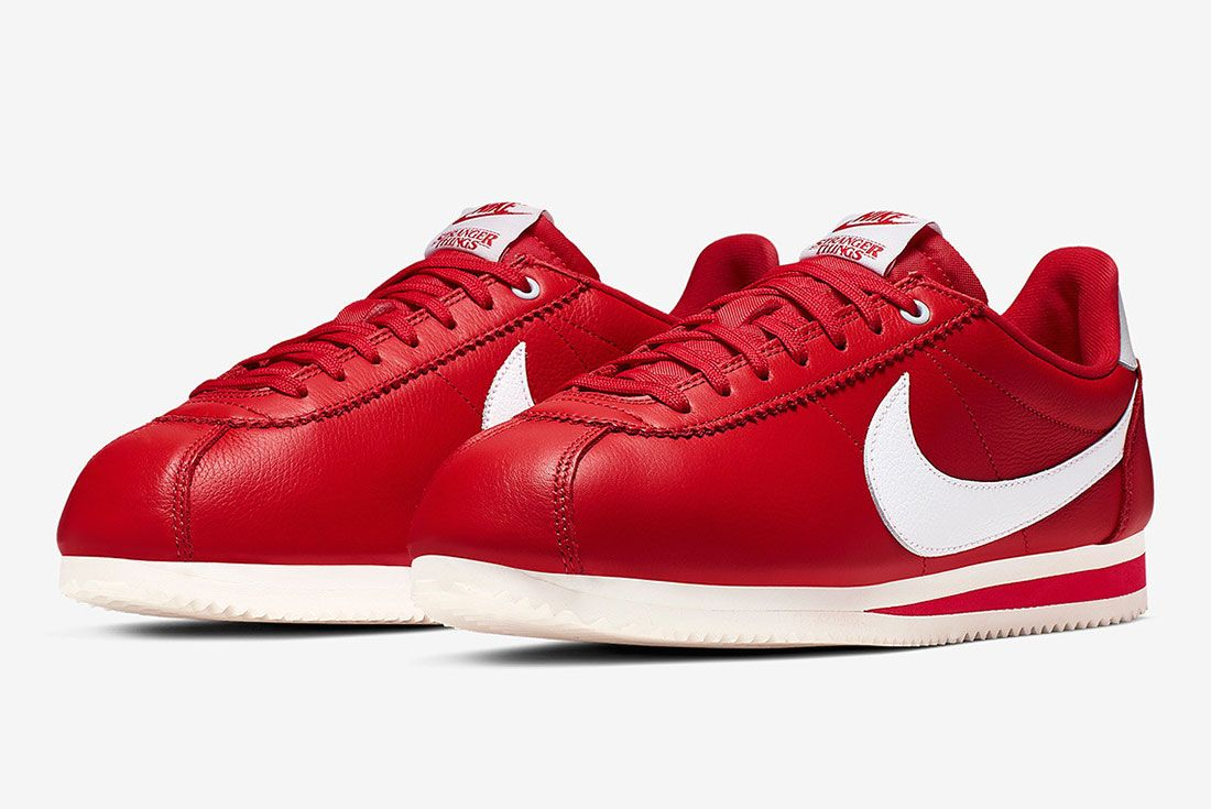 Stranger Things Nike Cortez Red Og Collection Ck1907 600 Three Quarter Angled Shot