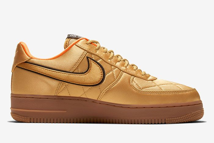 Nike Air Force 1 Low Cu6724 777 Gold Medial
