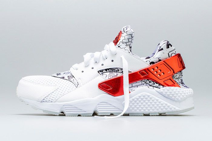 Nike Air Huarache Qs White Red Shoe Palace 1 Sneaker Freaker