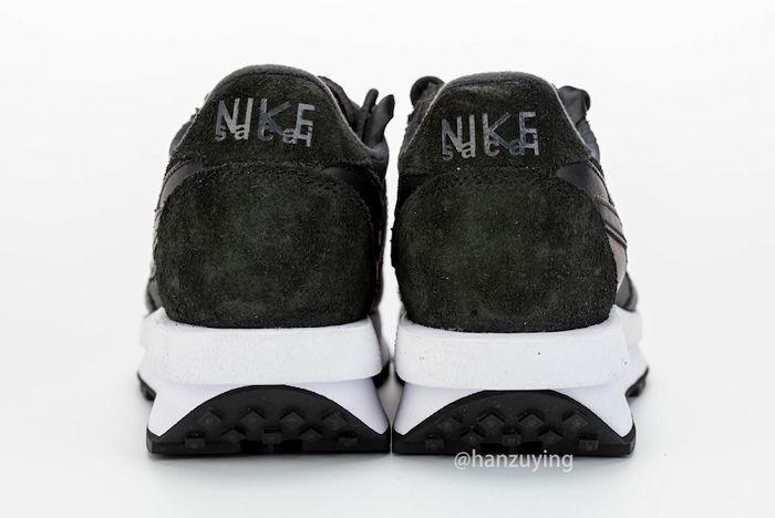 Sacai X Nike Ldwaffle Black Heel
