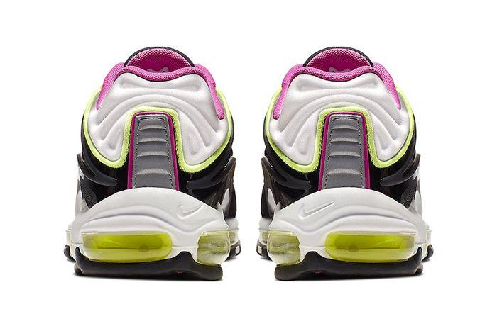 Nike Air Max Deluxe Black Pink Volt White Aj7831 005 Release Date Heel