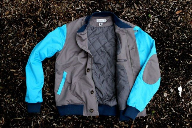 Kith Shades Of Grey Varsity Jacket 1