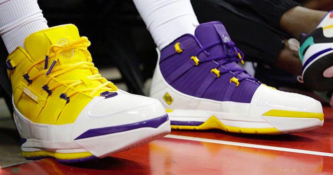 LeBron James Stunts Mismatched Nike