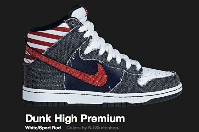 Nike Sport Red Dunk Hi Sb 2010 1