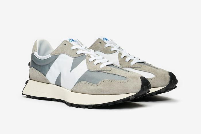New Balance 327 Grey White Pair