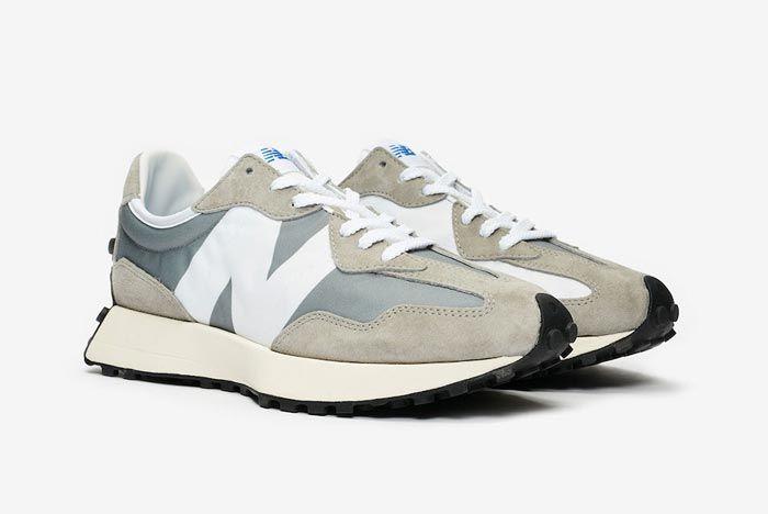 New Balance 327 Grey White Pair