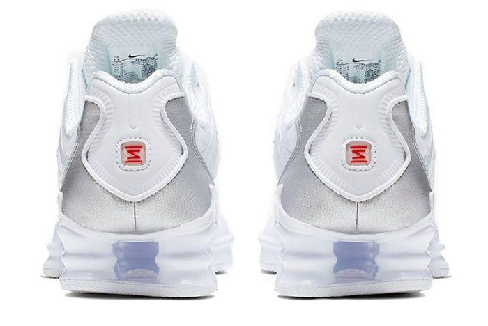 Nike Shox Tl Metallic White Heel
