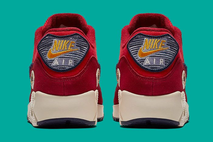 Nike Air Max 90 Chenille Red Blue 4